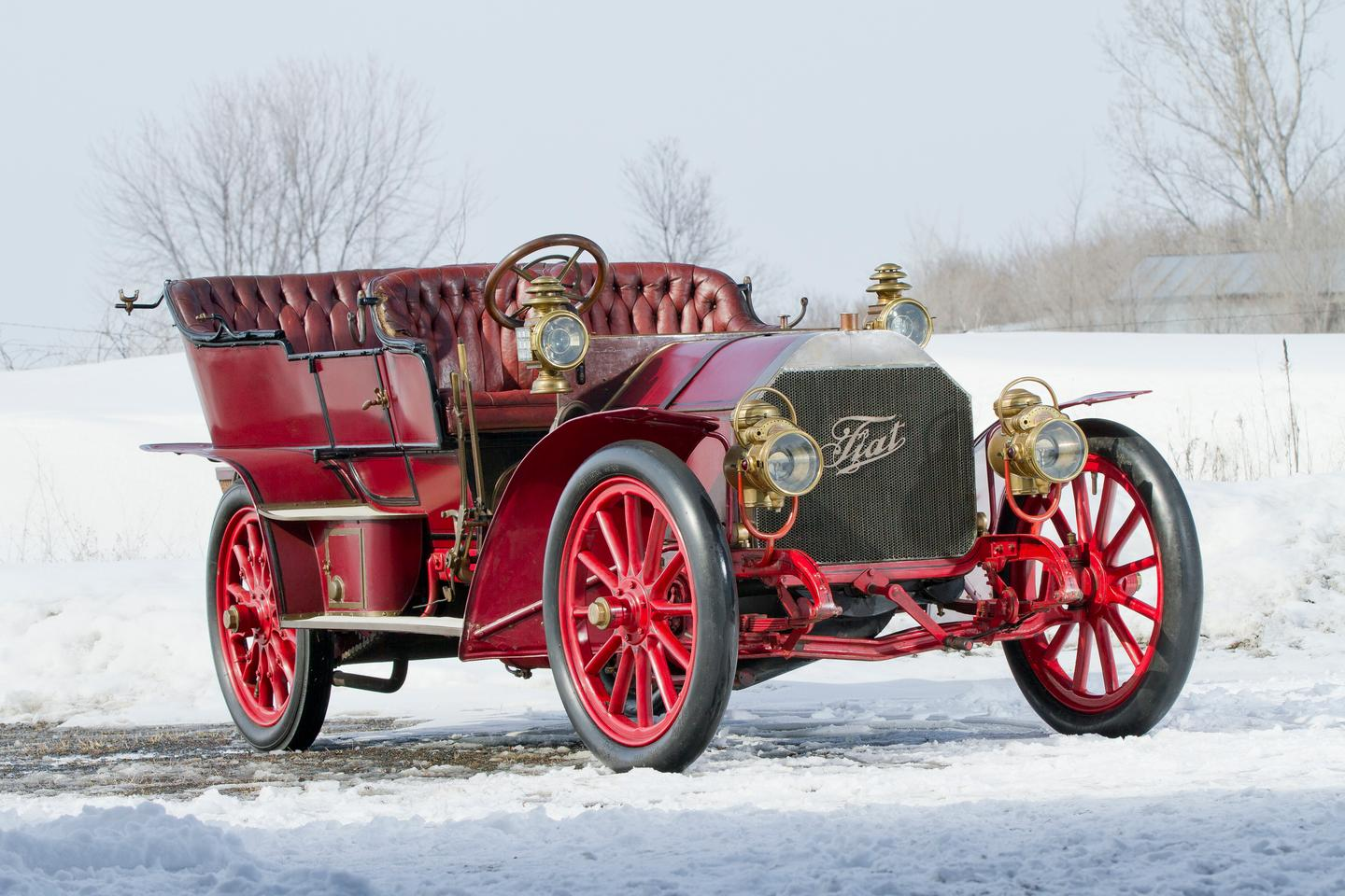 "Founded in 1899 in Torino, Italy, FIAT (Fabbrica Italiana Automobili) promoted the 60 HP as a true 5-passenger ""touring car"" (Photo: Teddy Pieper ©2013 Courtesy of RM Auctions)"