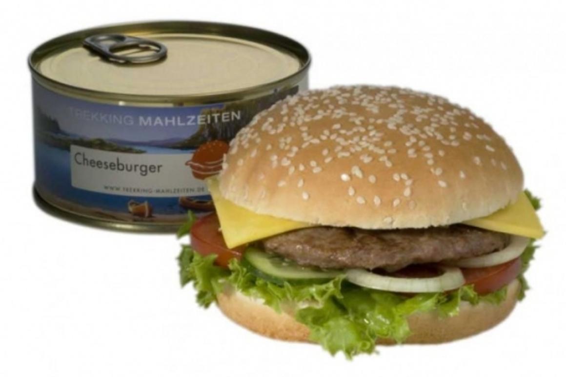 Trekking-Mahlzeiten's canned Cheeseburger
