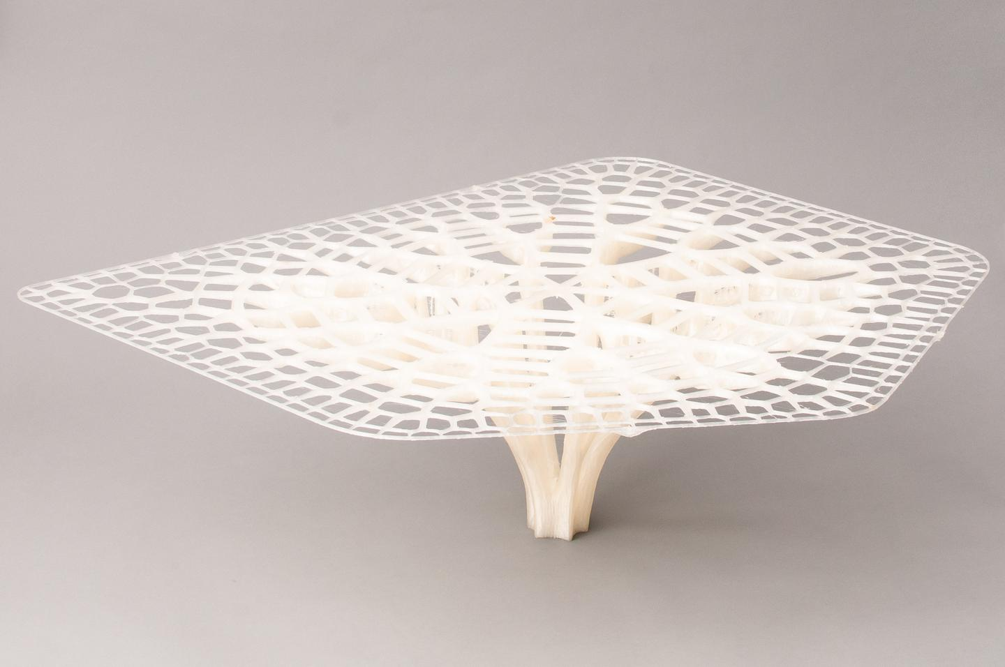 "Large-format 3D printing enabled a small designer to create this table based around ""adaptive growth patterns of trees and bones"""