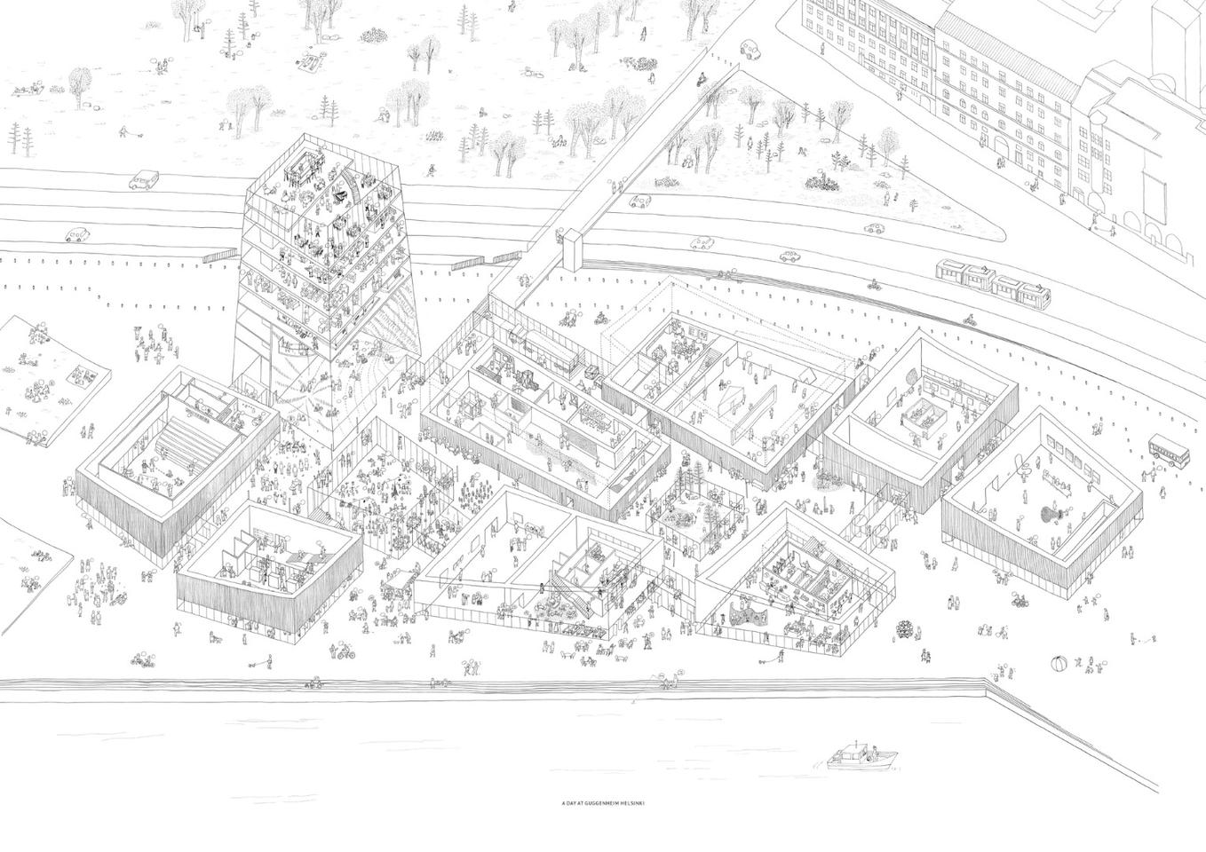 Architectural drawing of Art in the City