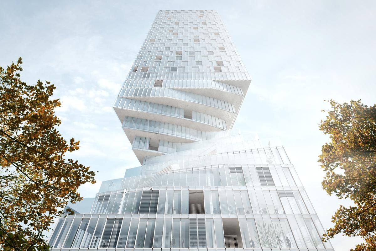 The mixed-use tower will rise to a height of 110 m (360 ft) (Image: MVRDV)