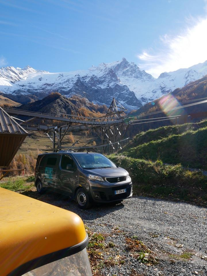 Venturing out to the mountains in the Bivy Life Mobile Base Camp van
