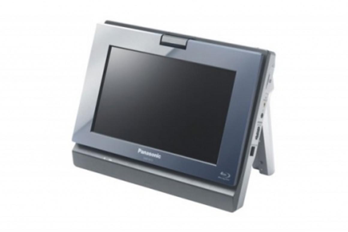 The Panasonic DMP-B15 portable Blu-ray player