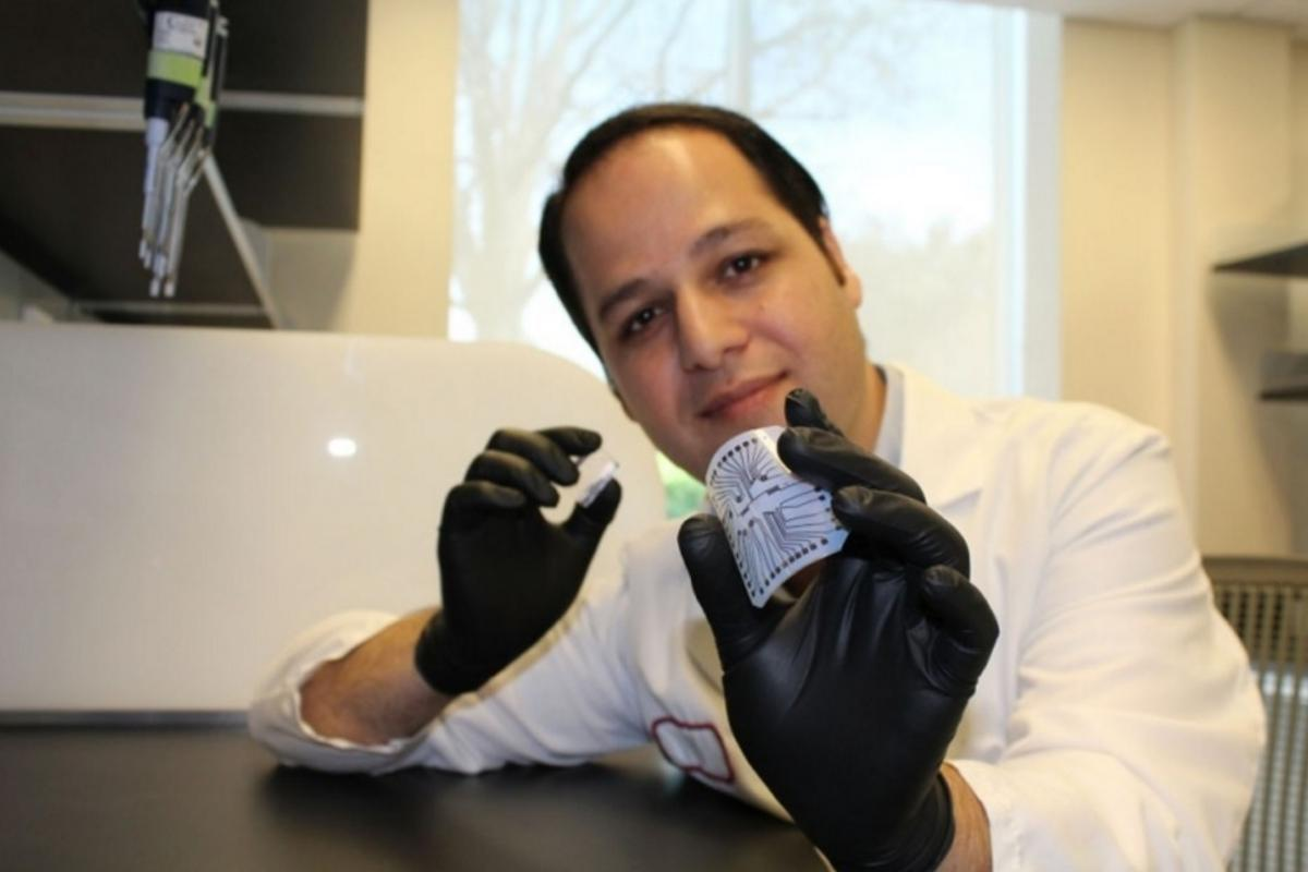 "Rahim Esfandyarpour helped to develop a way to create a diagnostic ""lab on a chip"" for just a penny"