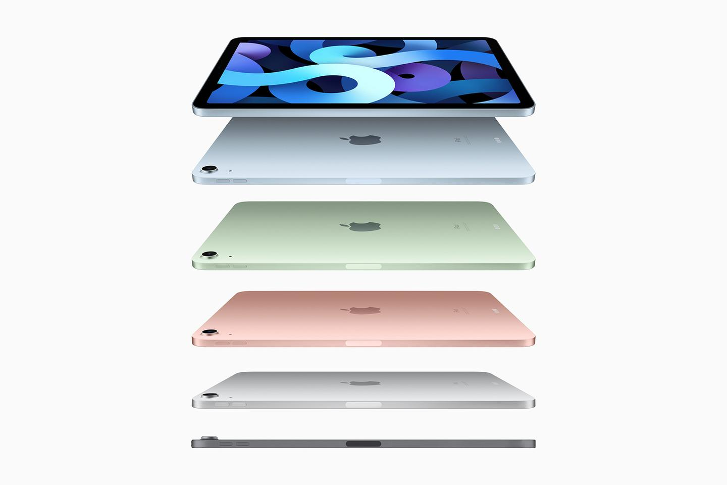 The iPad Air now looks much like the iPad Pro – but it's available in more colors