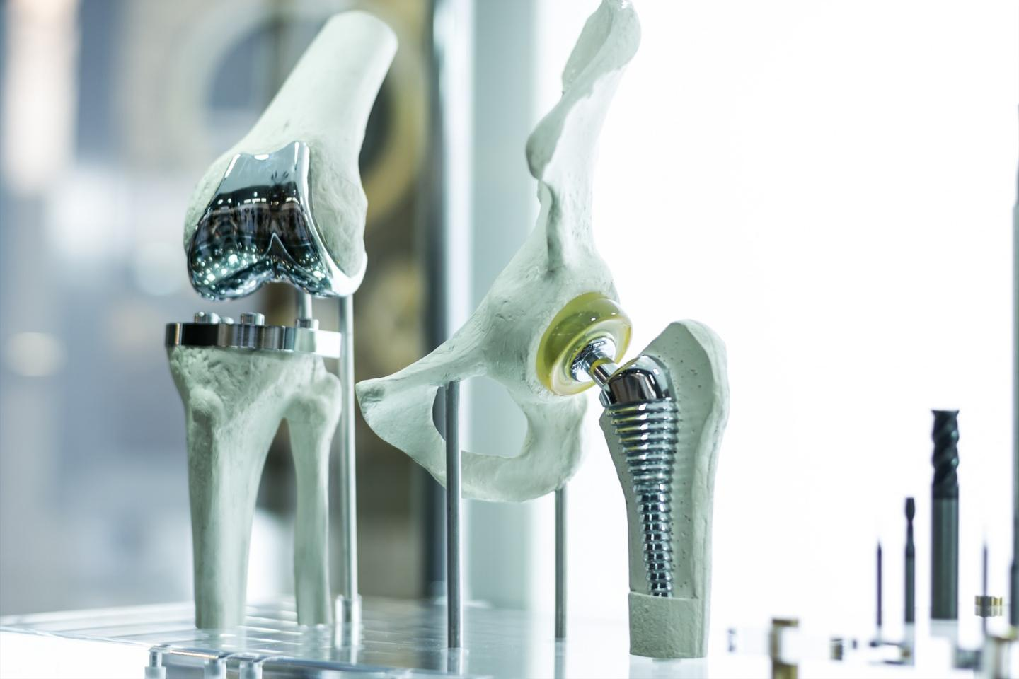 The microgels could be applied to implants such as artificial knees or hips