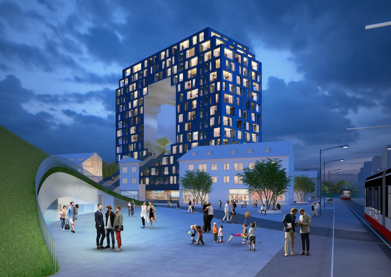 MVRDV iscollaborating on the Franklin Mitteproject withhaascookzemmrich STUDIO2050 and AS&P