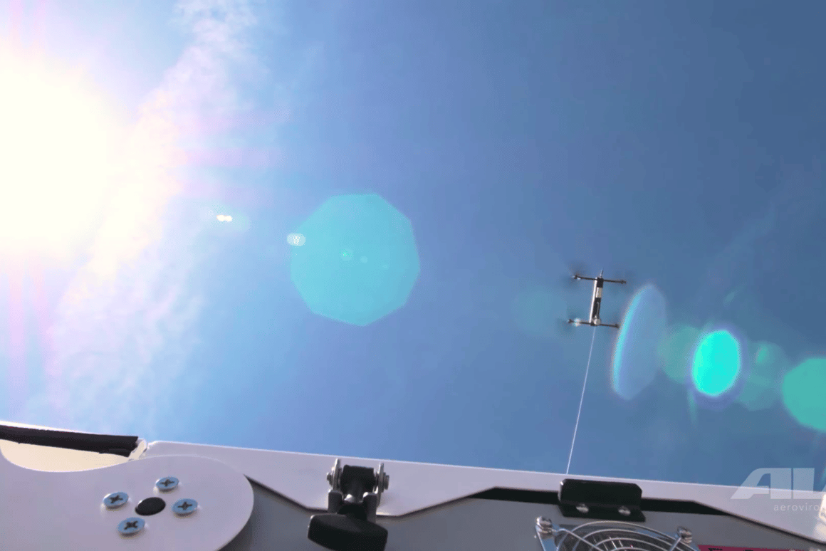 Equipped with electro-optical and infrared cameras, Tether Eye can fly to an altitude of 150 ft (45 m)