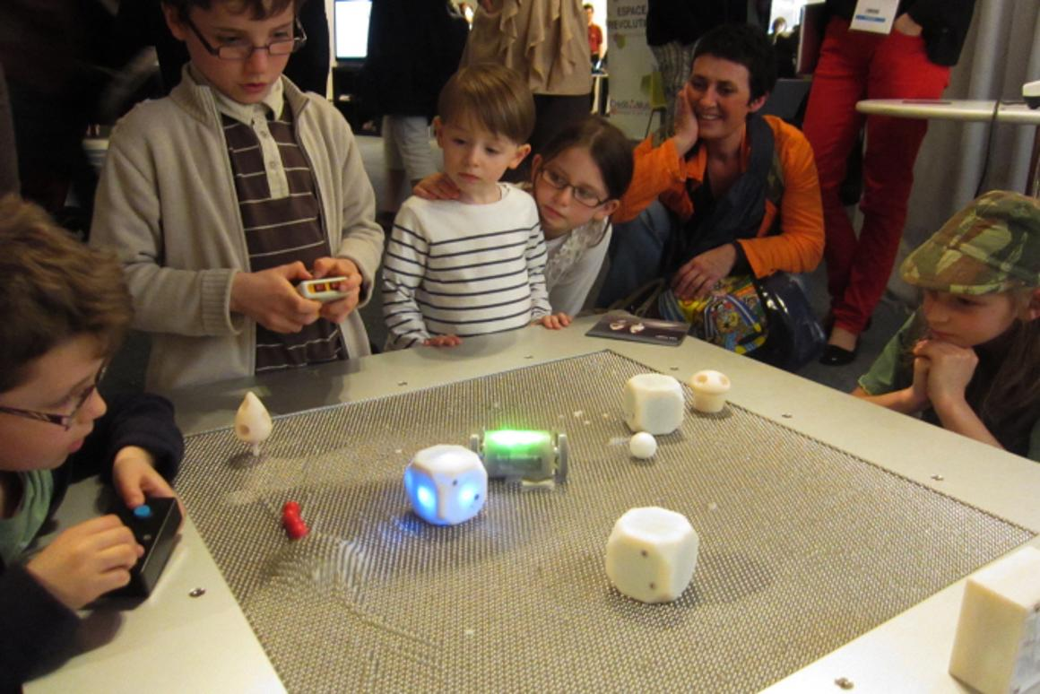 Kids are sure to create a variety of games using the MoleBot table