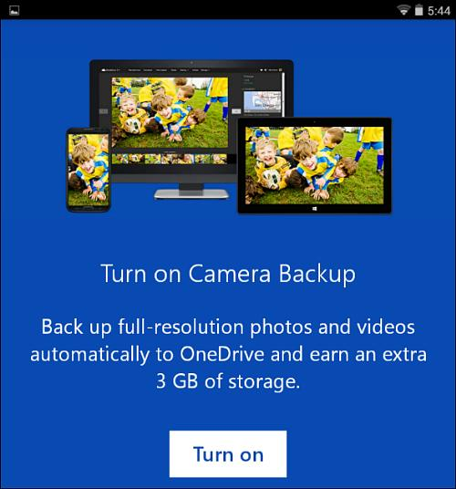 Get 3 GB of free storage when choosing OneDrive