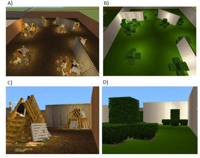 To induce feelings of déjà vu, the team built virtual spaces that were spatially identical but thematically very different