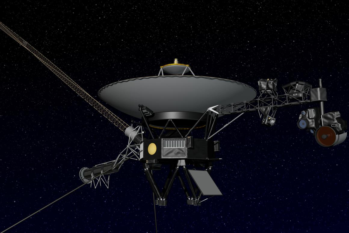 Artist concept of NASA's Voyager spacecraft (Image: NASA/JPL-Caltech)