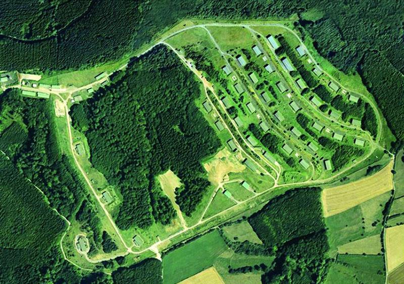 Arial shot of the Bilster Berg site before construction
