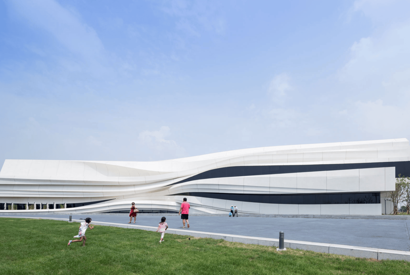 From a collaborative group of Chinese architects and designers called we architect anonymous, this is the Museum of Contemporary Art (MOCA) in Yinchuan. Completed in 2015