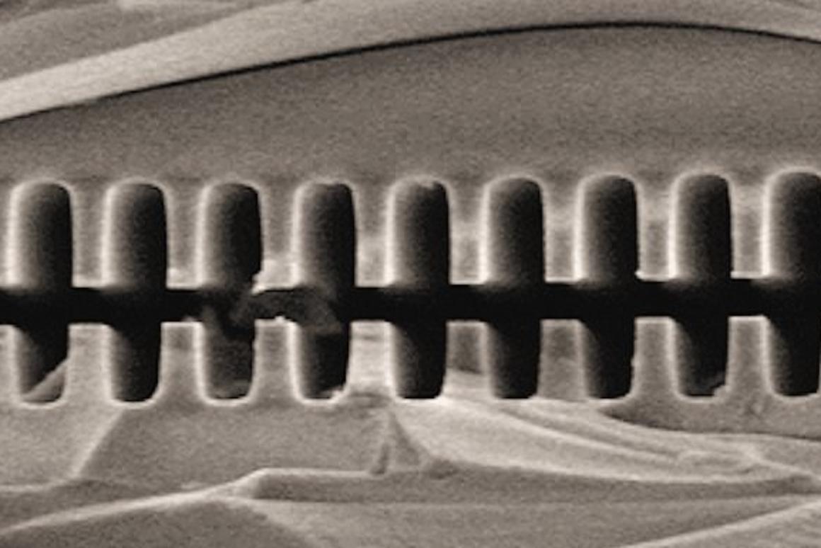Fused quartz acceleration grating for the Stanford-SLAC dielectric laser electron accelerator (Photo: SLAC)