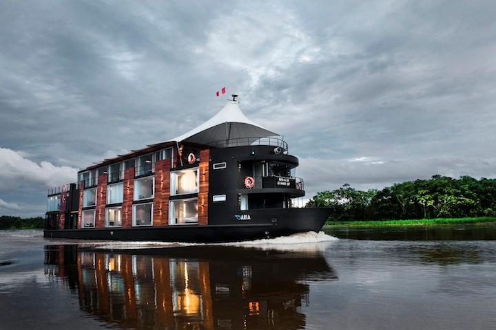 The M/V Aria, cruising the Amazon River in Peru
