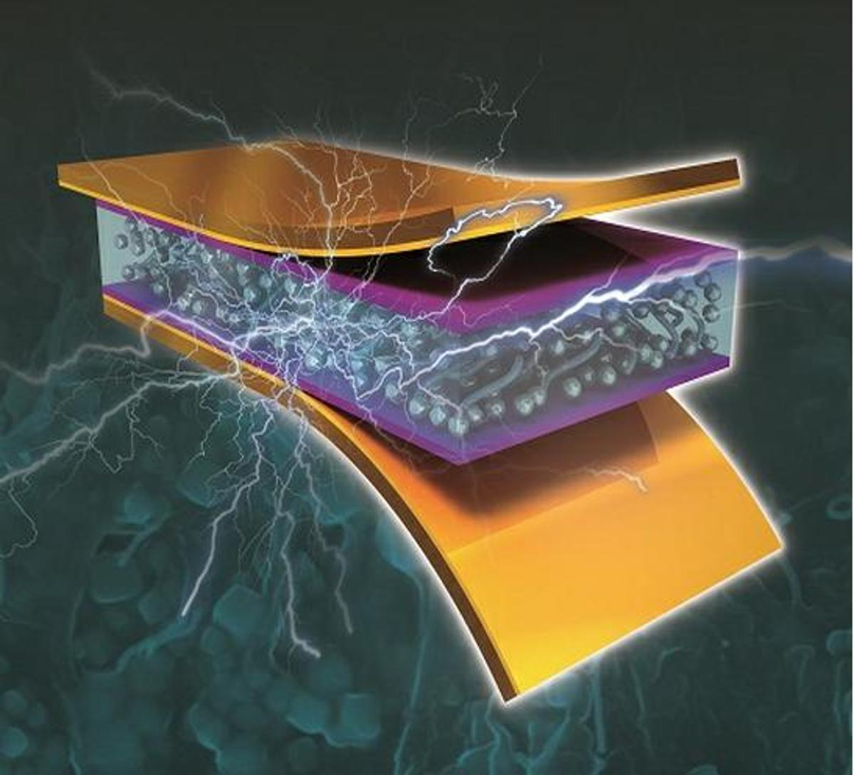 KAIST's nanocomposite piezoelectric generator produces electricity from vibrational and mechanical energy (Image: KAIST)
