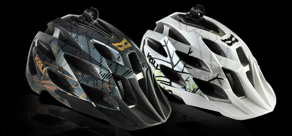 Kali's AMARA CAM mountain bike helmet comes with its own mounting point for a camera or light