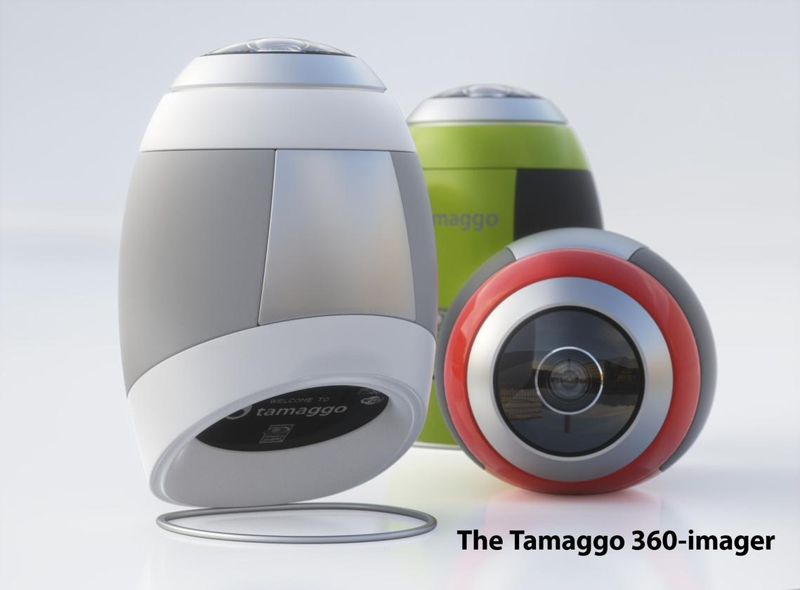 The new Tamaggo 360-Imager is said to capture high resolution, navigable 360-degree panoramas with a single click