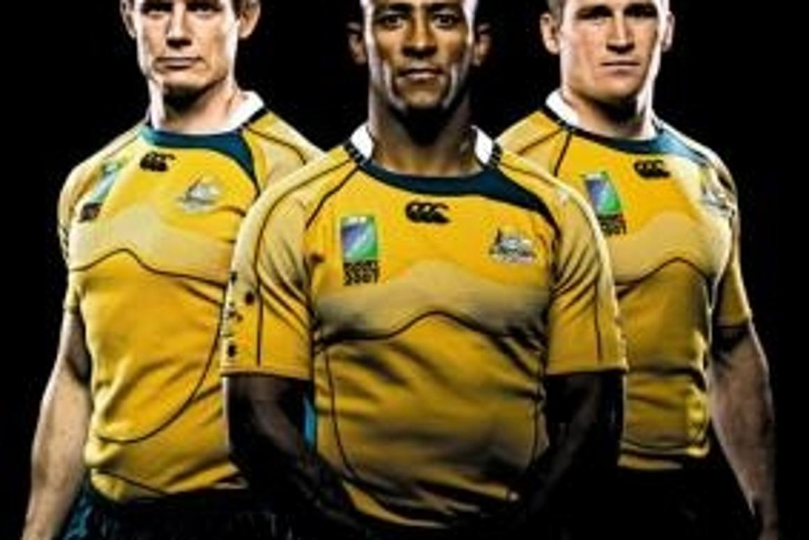Australian rugby players in Canterbury's new ionically charged IonX sports clothing