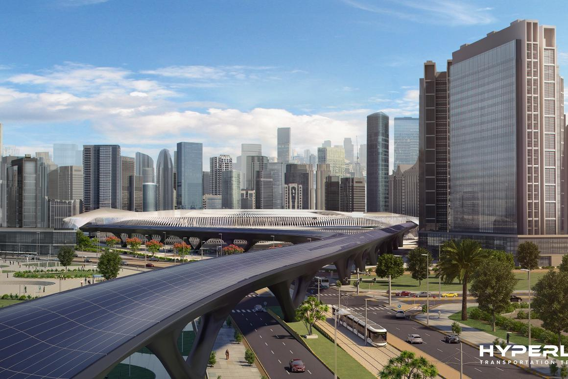 HyperloopTT hopes to eventually extend its transport system to cover the distance between Dubai and Abu Dhabi
