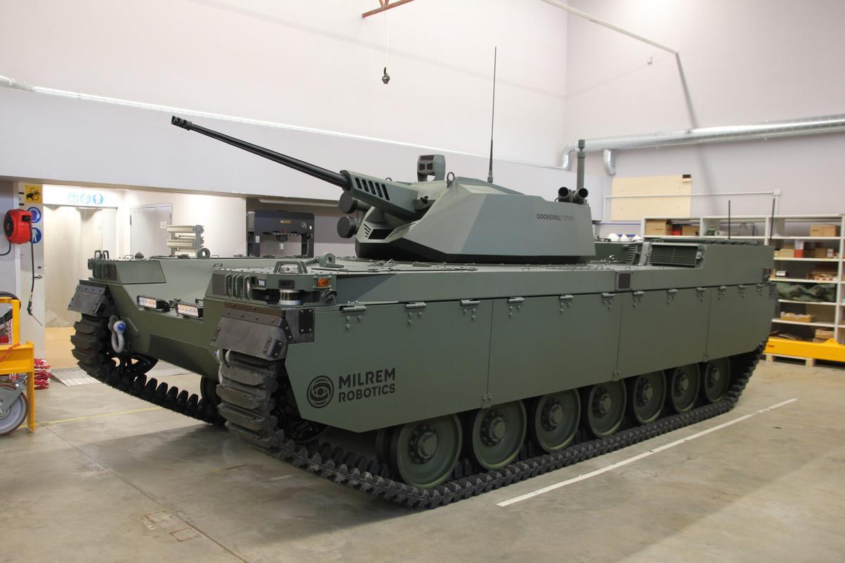 The Milrem Type-X combat robot