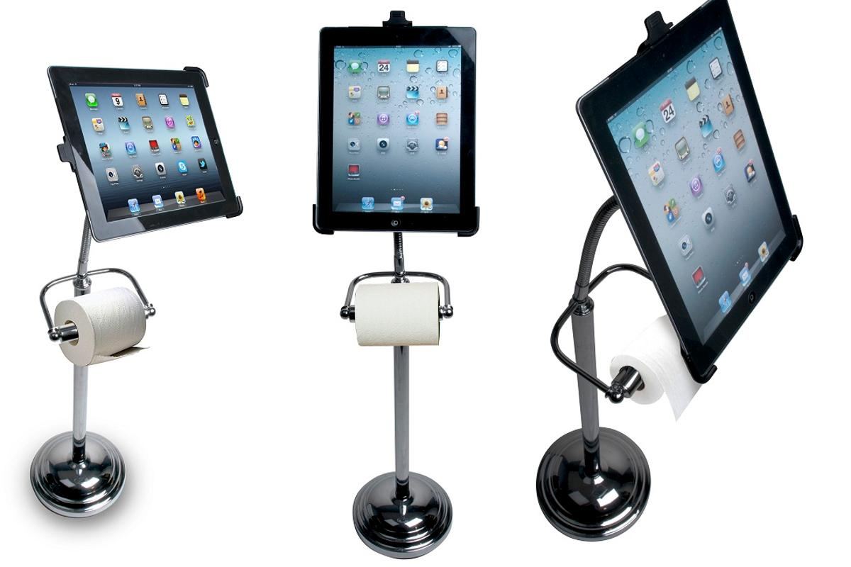 The Pedestal Stand for iPad could make toilet trips more fun by providing a hands-free platform for your tablet
