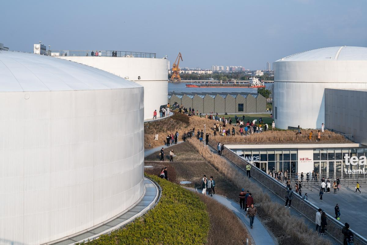 Tank Shanghai involved the repurposing of a former airport's aviation fuel tanks into an arts center
