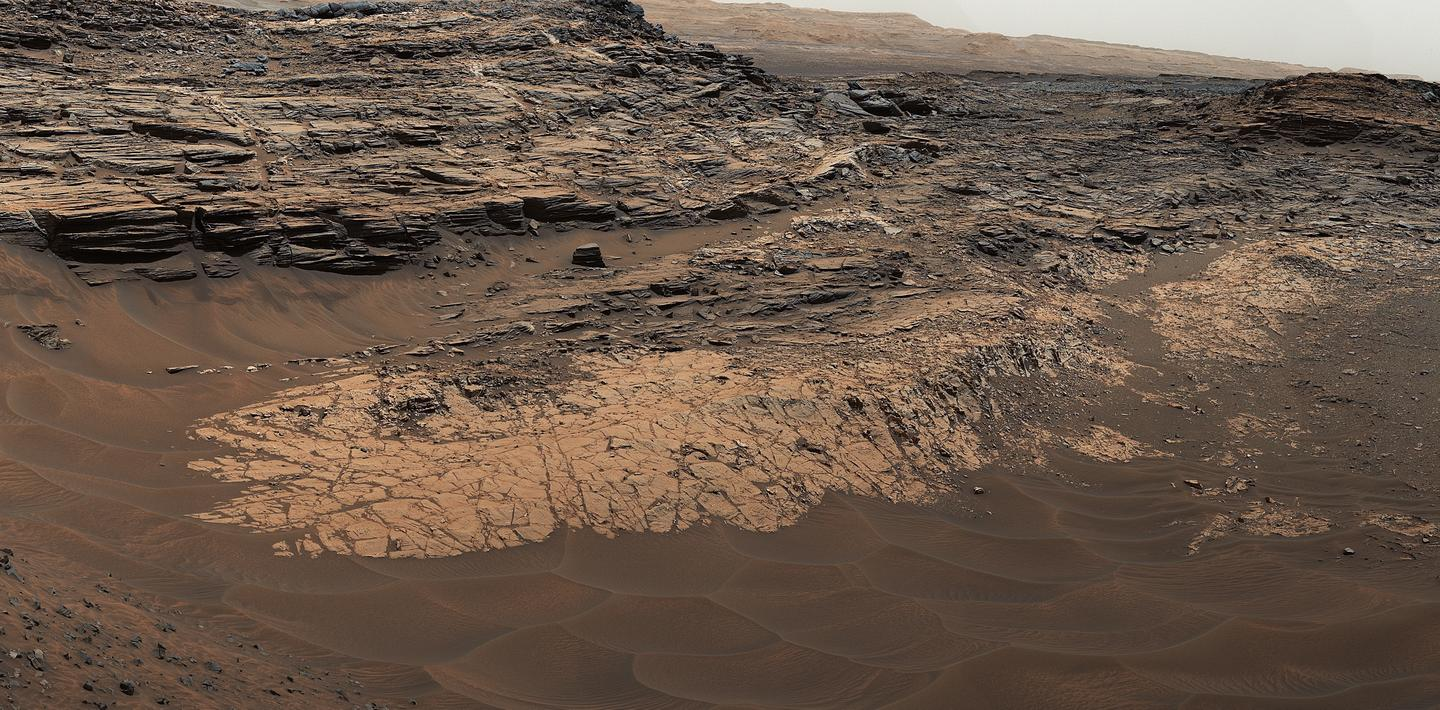 This photo from the Curiosity rover shows the kind of place that could be teeming with life, if a new study is to be believed