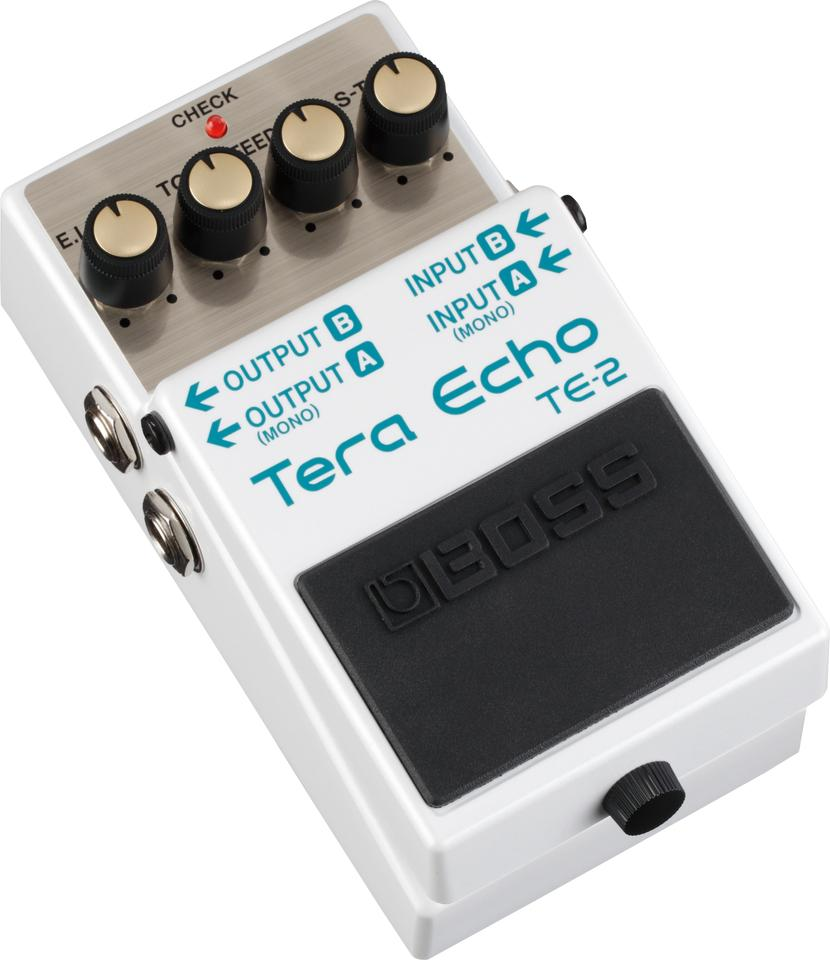 The BOSS TE-2 produces satisfyingly rich, spacious echo and ambience effects without overwhelming the guitar's direct tone