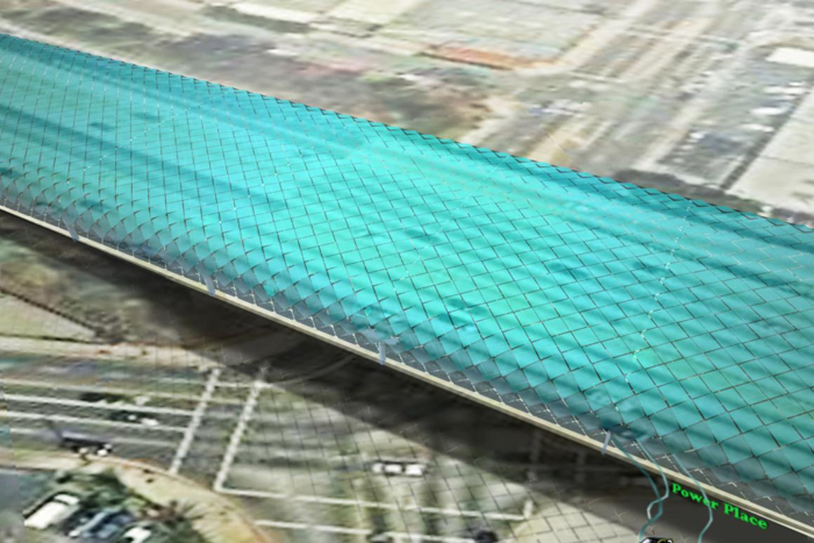 "Mans Tham's ""Solar Serpents in Paradise"" idea would see city freeways covered in solar panels"