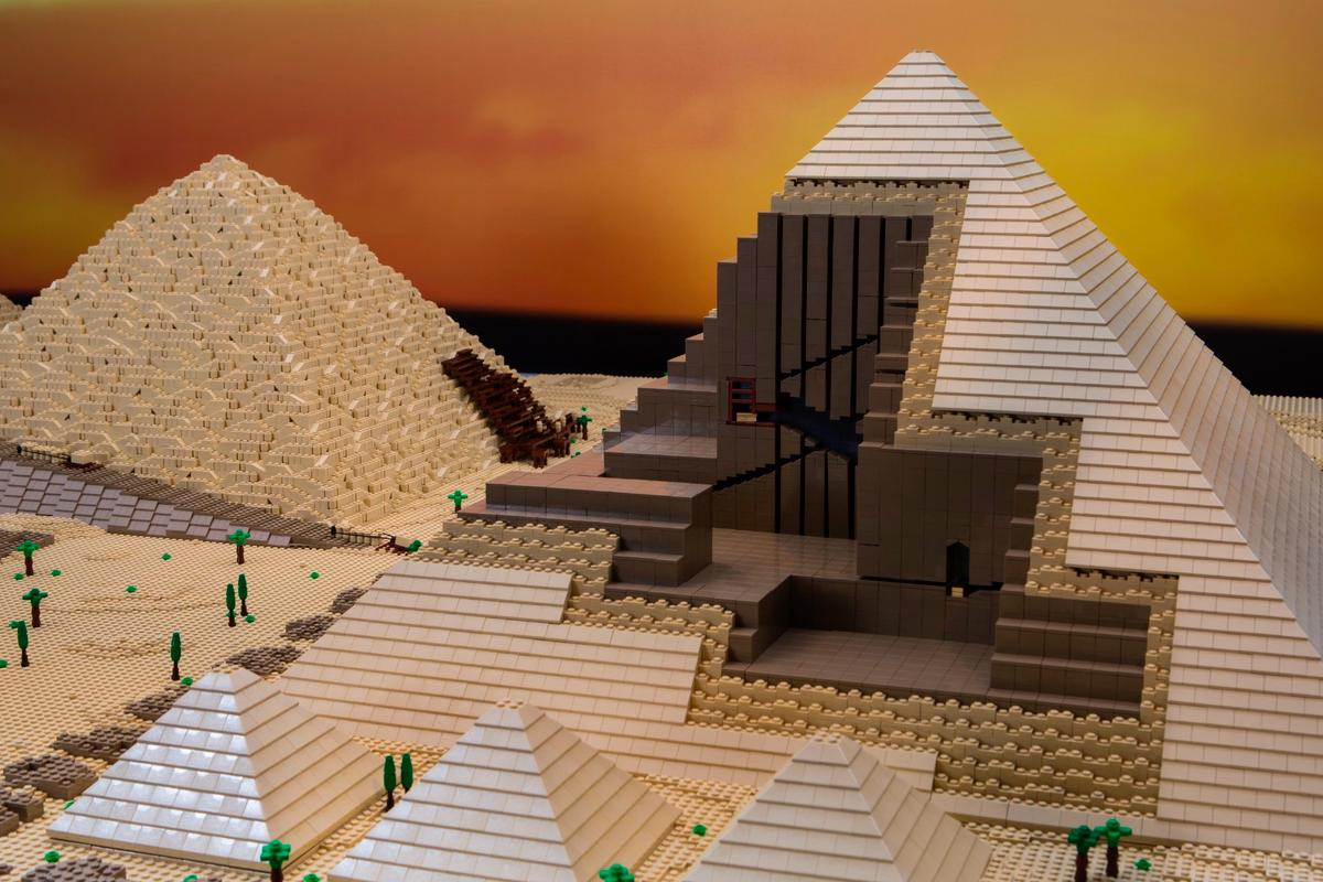 The Great Pyramid of Giza took 50 hours to design and 45 hours to build