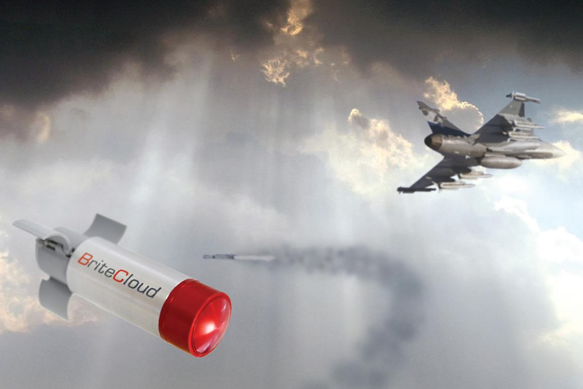 The BriteCloud missile decoy systemis being tested on RAF Typhoons