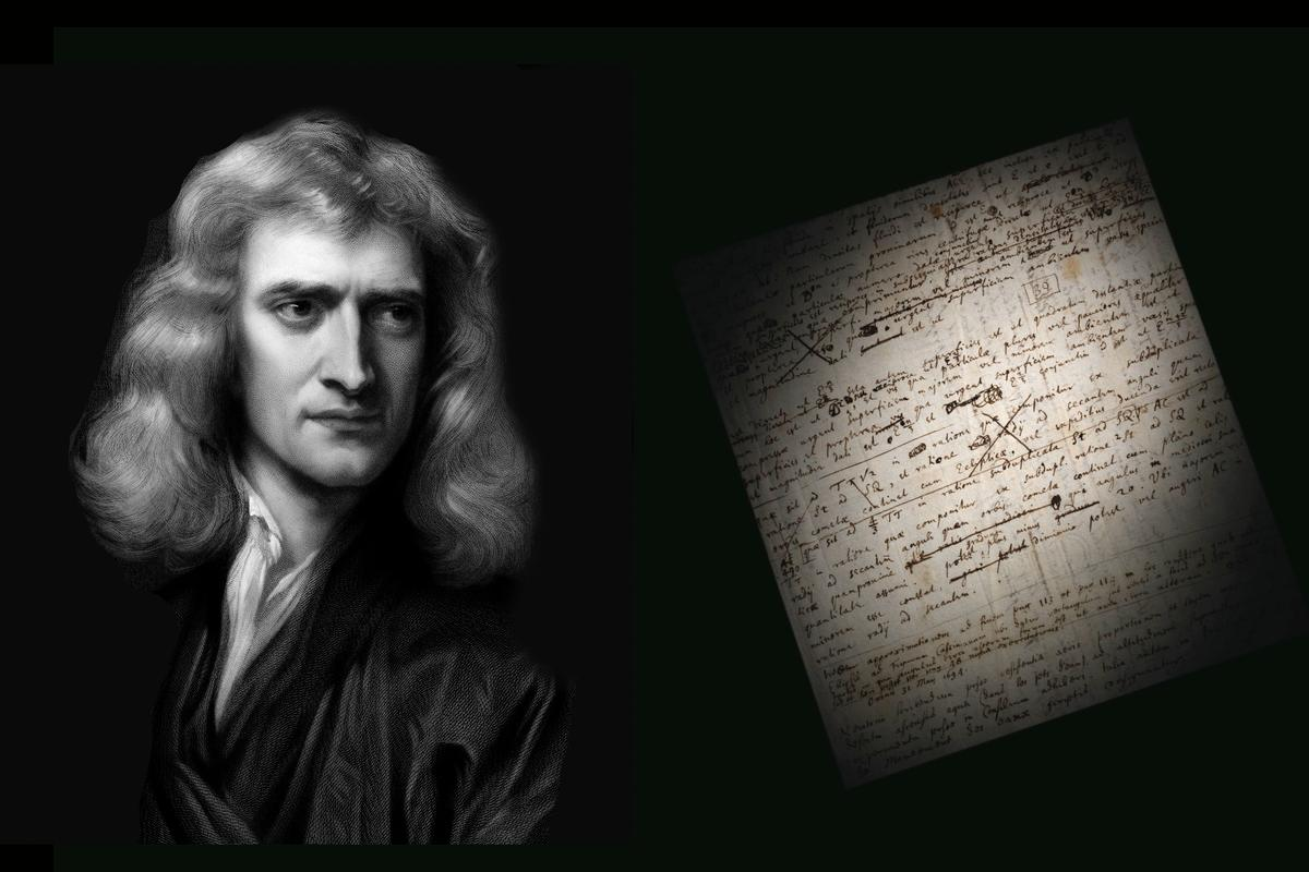 Written in Latin and covering one and a half pages of 220 x 189-mm paper, the heavily-corrected draft is dated from May to July 1694 and features a total of 39 lines in Newton's hand