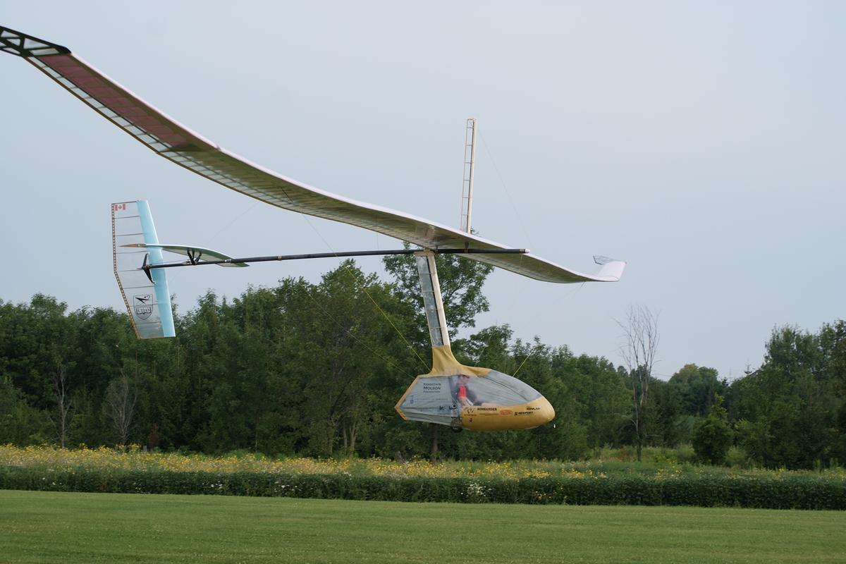The Snowbird on its record-breaking flight