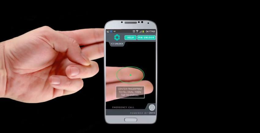 The ICE Unlock app serves the same purpose as a physical fingerprint scanner