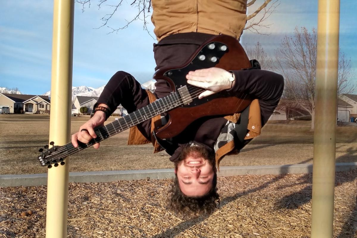 Hanging with an Apollo Pro guitar, which rocks Fishman Fluence multi-voice pickups