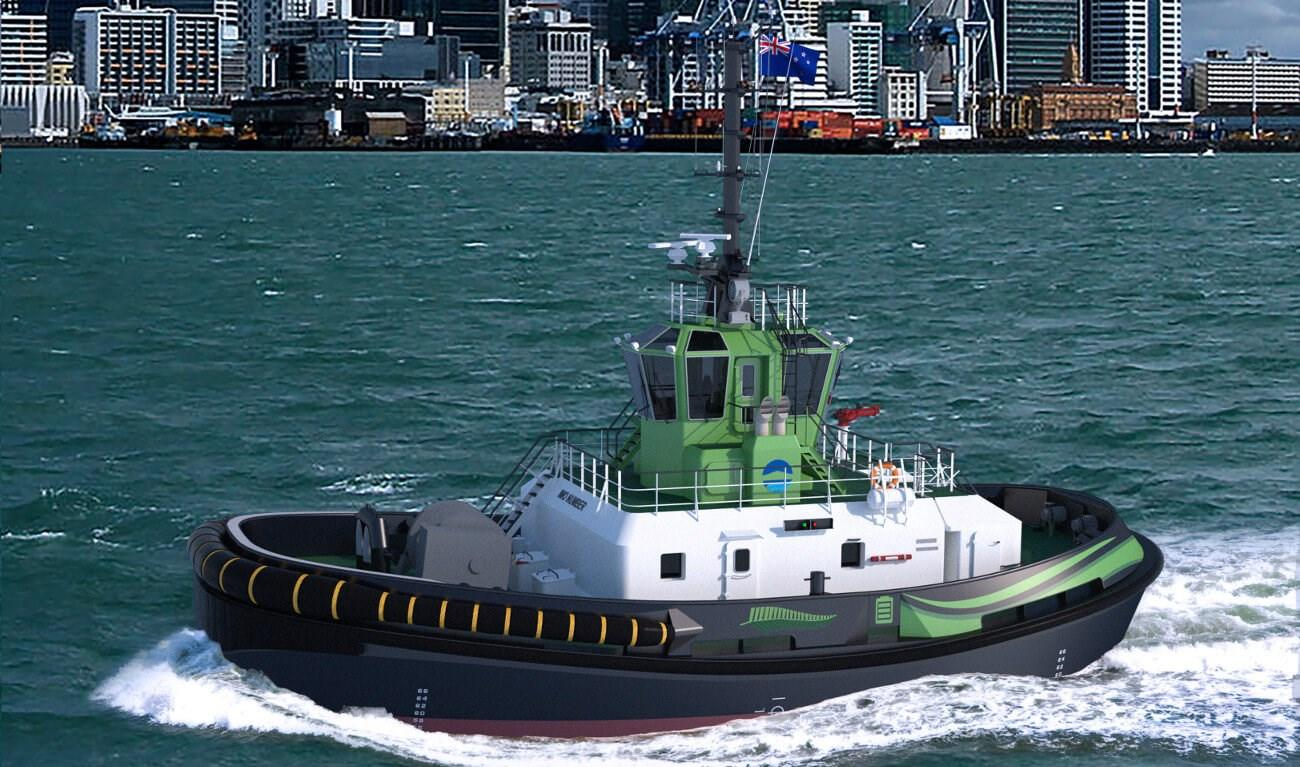 The Damen RSD-E Tug 2513 is expected to be delivered to the Ports of Auckland in 2021