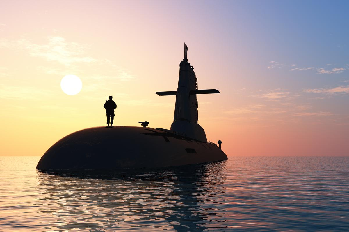 Conventional manned submarines like this one will soon be complemented by robotic counterparts