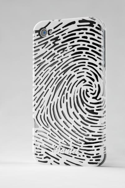 iPhone 4/S Fingerprint case, based on a real human fingerprint