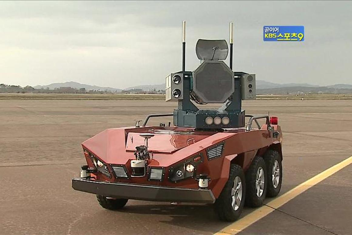 The UGV underwent testing at military air bases earlier this year (Photo: KBS)