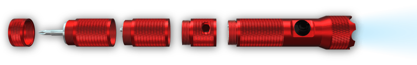 An exploded view of the Pyyros