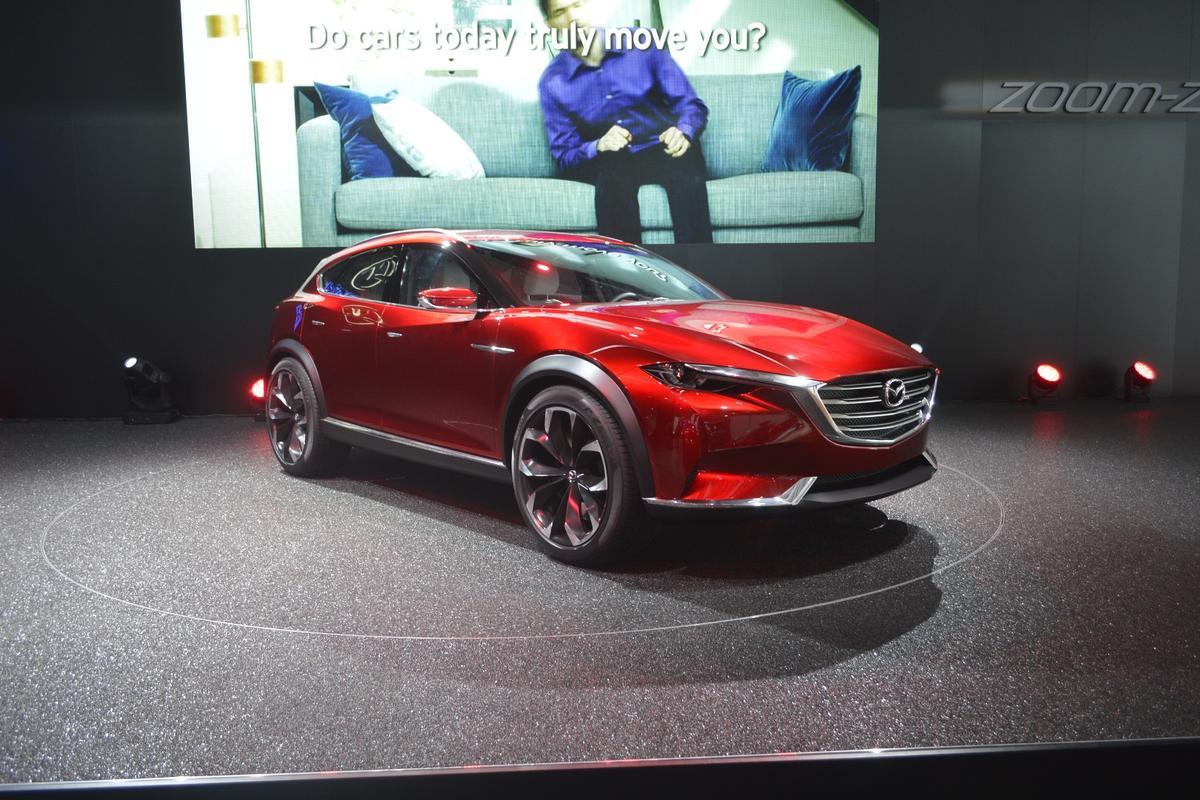 The KOERU crossover concept is designed under Mazda's KODO - Soul of Motion design language