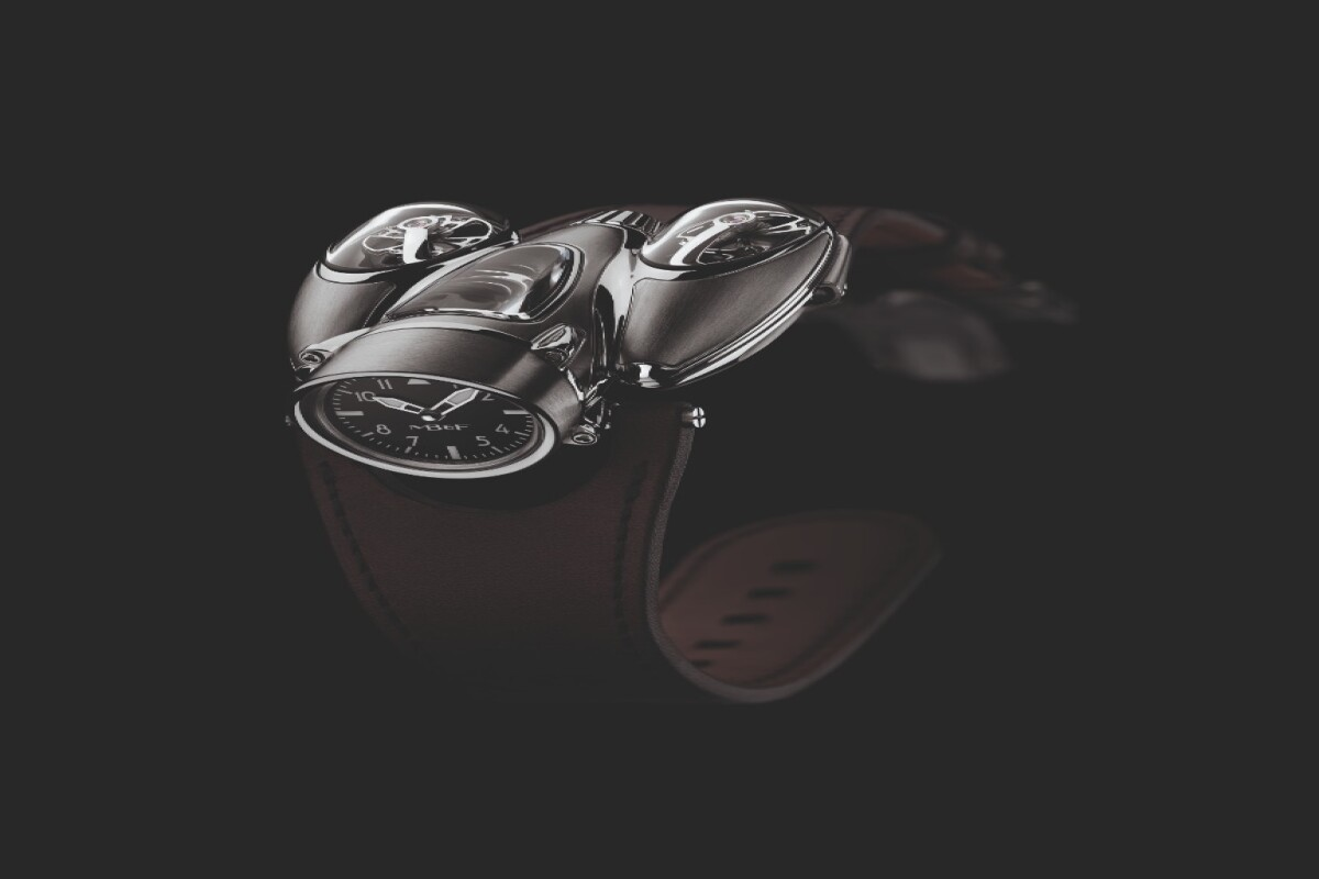 The MB&F HM9 Flow has a leather strap