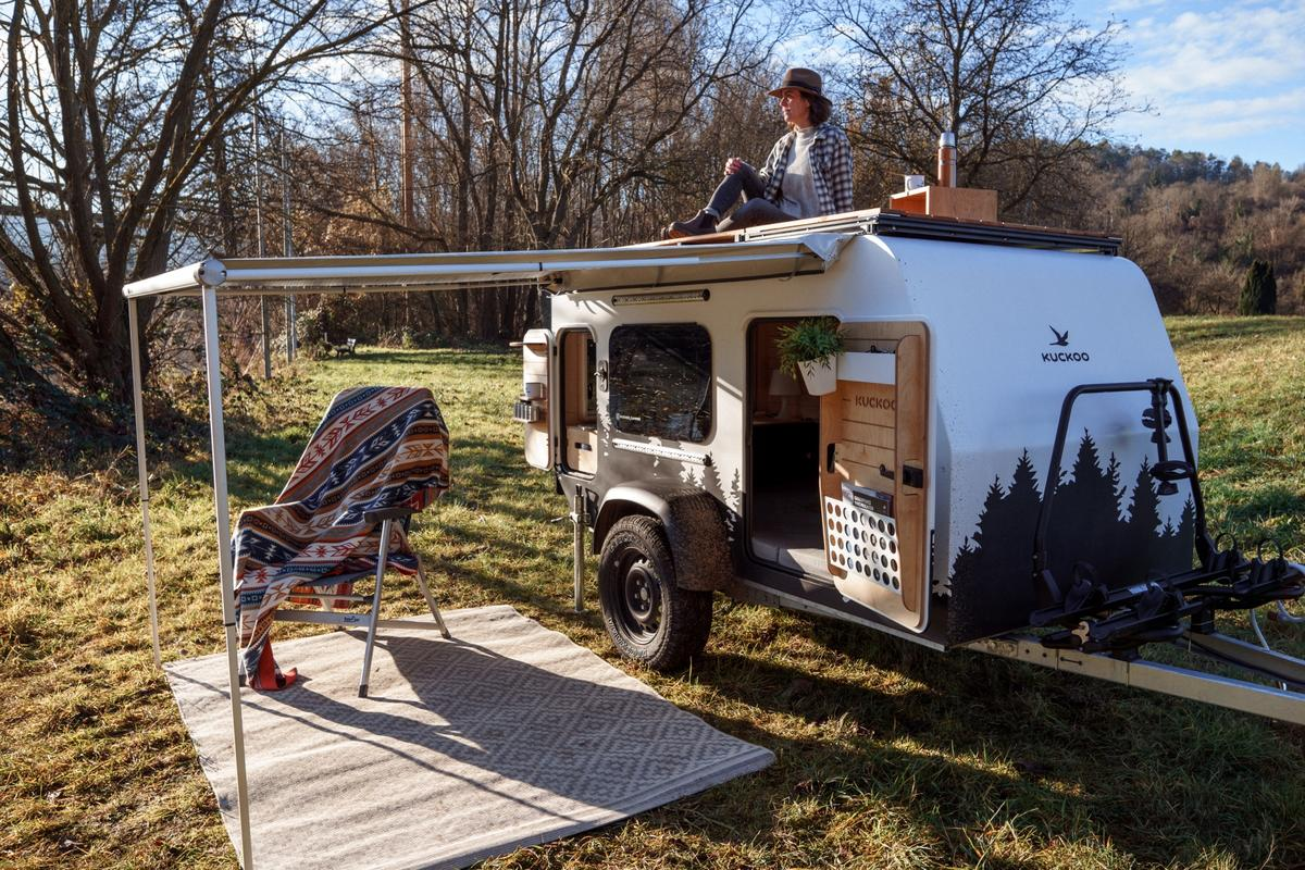 The new Kuckoo trailer combines a homey interior with a few nice outdoor living features