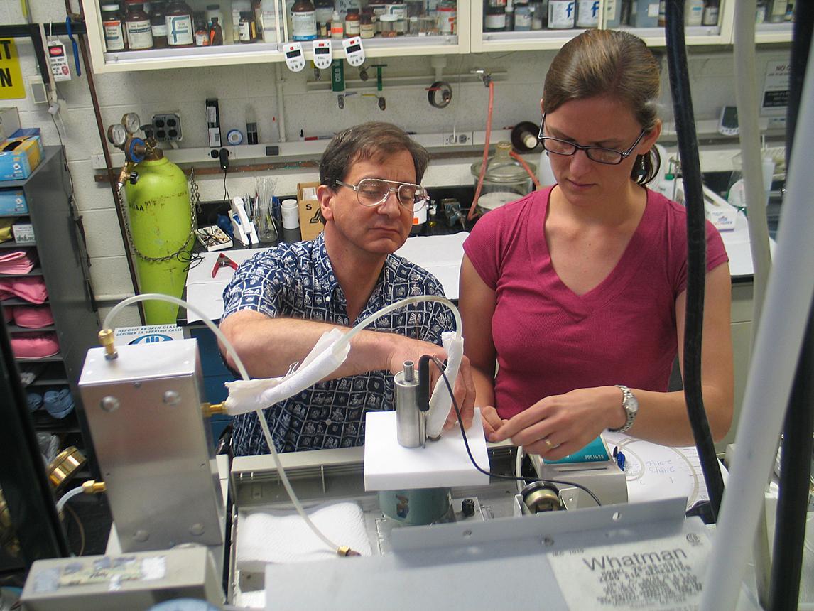 NIST chemists Thomas J. Bruno and Tara M. Lovestead