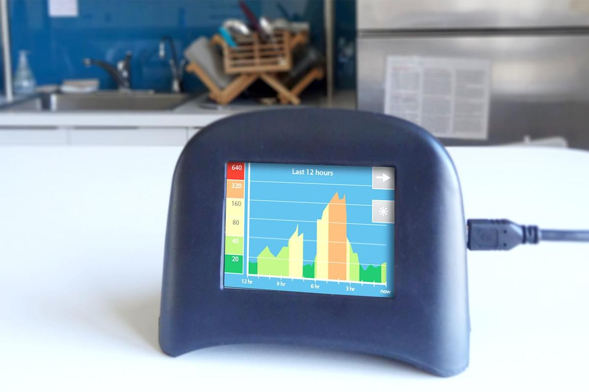 Speck detects unhealthy levels of particulates within the air in your home