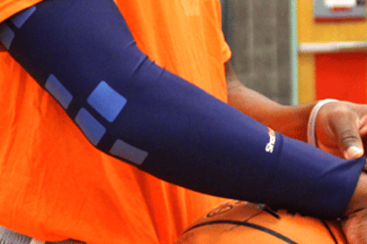 The ShotTracker system is designed to keep tabs on a basketballer's shooting success