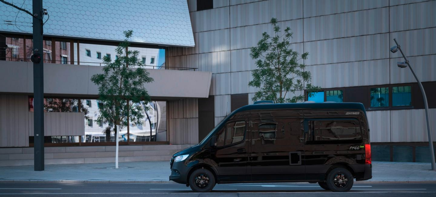 Now in its third generation, the Sprinter brings a fresh new face and a tech-loaded platform to the Hymer Free series