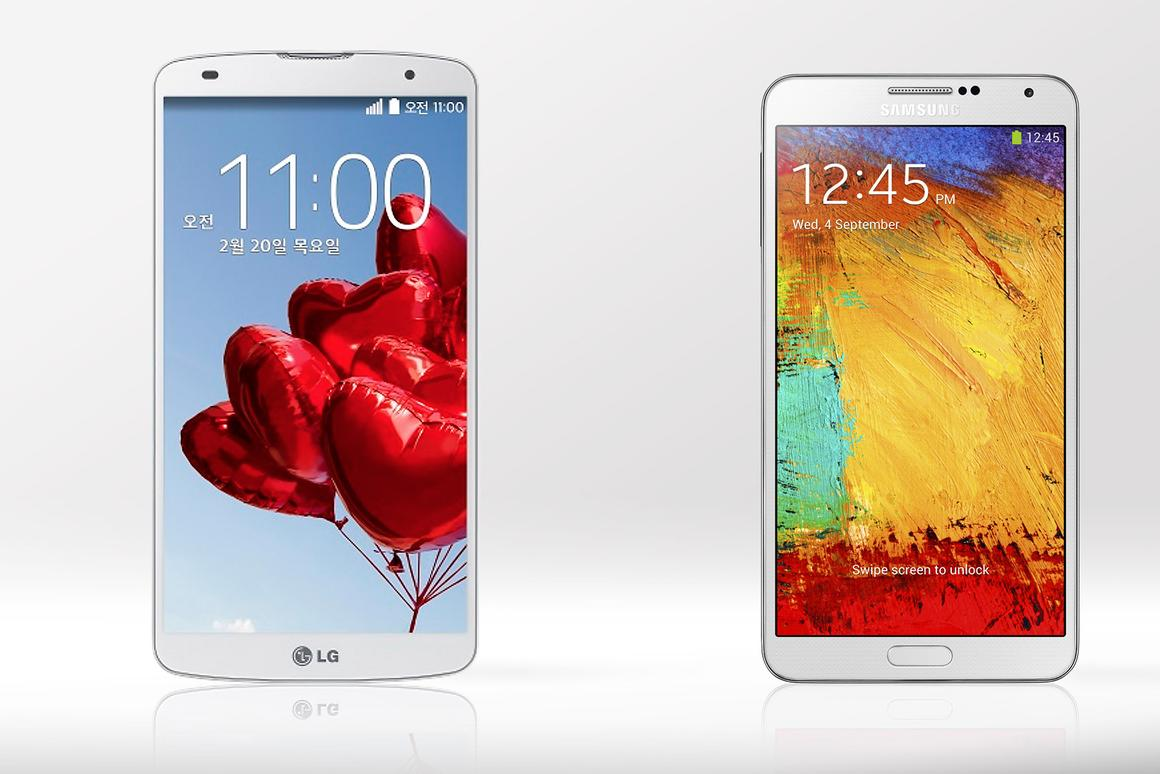 Gizmag compares the features and specs of the LG G Pro 2 and Samsung Galaxy Note 3